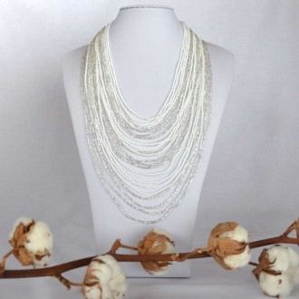Collier Chingo blanc
