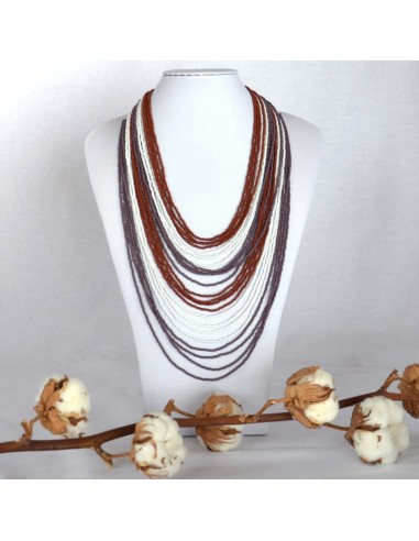 CHINGO Brown Ethnic Glass beads Necklace