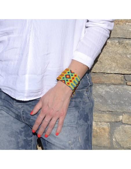 Large Brazilian Cuff Friendship Bracelet