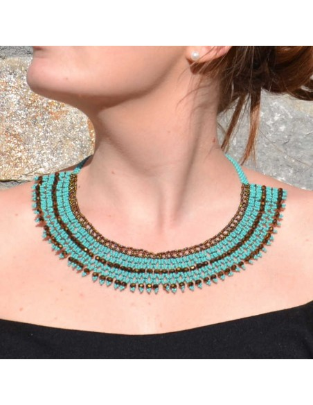 Collier pacaya turquoise