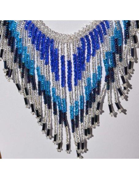 collier tacana bleu