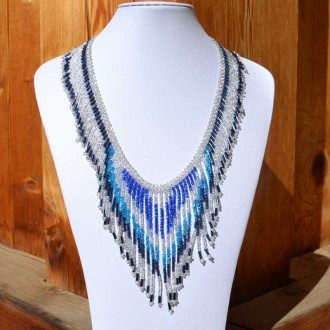 TACANA Blue Ethnic beads Necklace