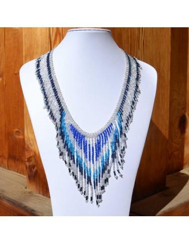 TACANA Blue Ethnic beads Necklace