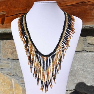 TACANA Gold Ethnic beads Necklace