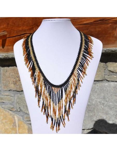 TACANA Gold Ethnic beads Necklace