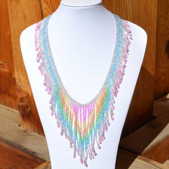 TACANA Pink Ethnic beads Necklace