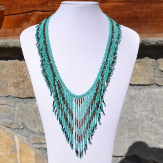 TACANA Turquoise Ethnic beads Necklace