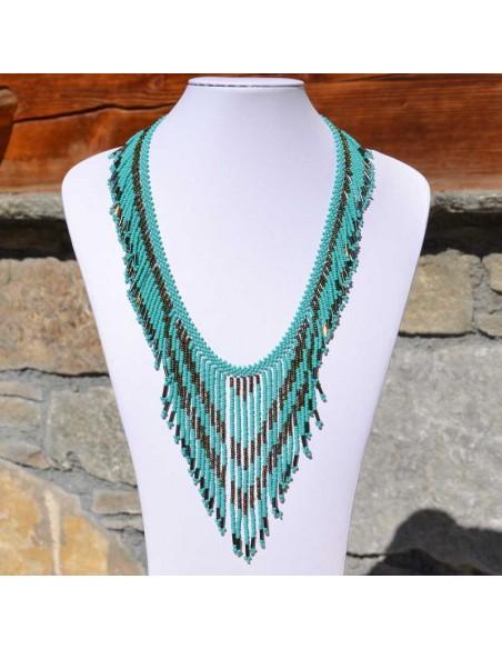 TACANA Turquoise Ethnic beads Necklace