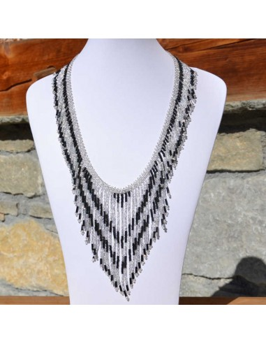 TACANA Black Ethnic beads Necklace