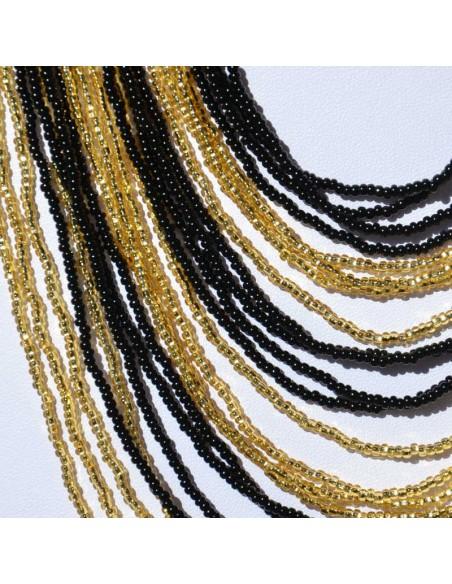 Collier Chingo noir doré