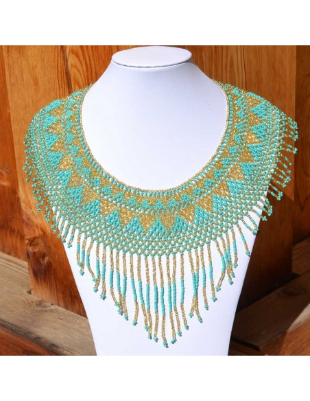 IPALA Turquoise Ethnic Seed beads Necklace