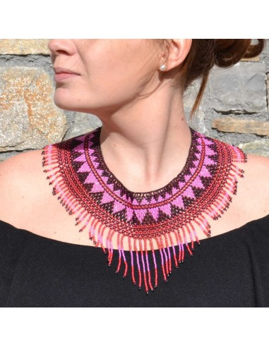 IPALA Pink Ethnic Seed beads Necklace