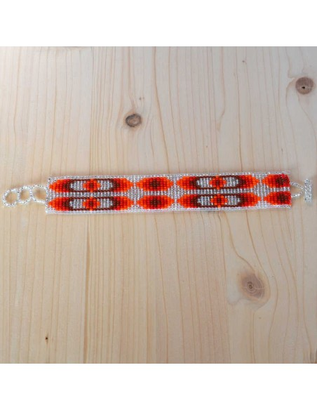 Medium Ethnic Glass Beads Bracelet