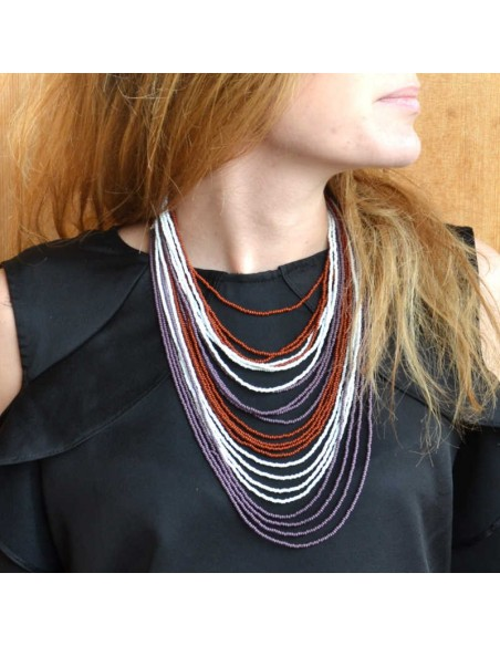 Collier Chingo marron