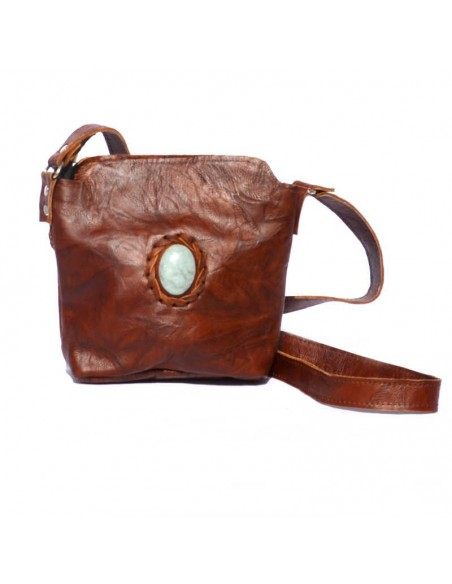 Leather Little Sling Bag Brown DULCE