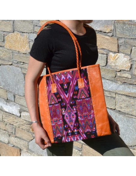 sac-cabas-ethnique-QUETZAL-orange