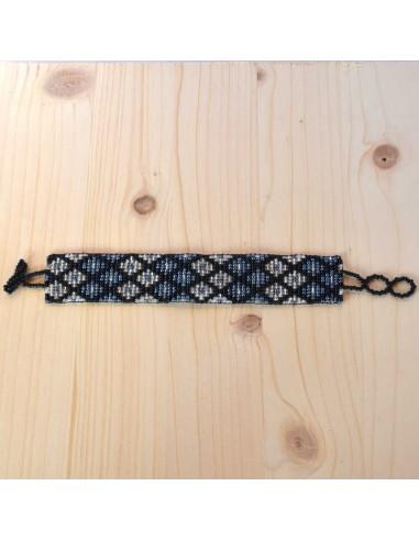 Medium Ethnic Glass Beads Bracelet