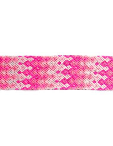 Manchette-Bracelet-Brésilien-Large-Rose-2