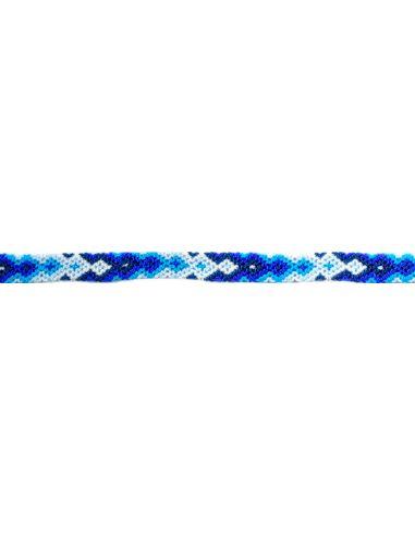 Bracelet Brésilien Fin Bleu Liens Interchangeables Fins 11 Mm