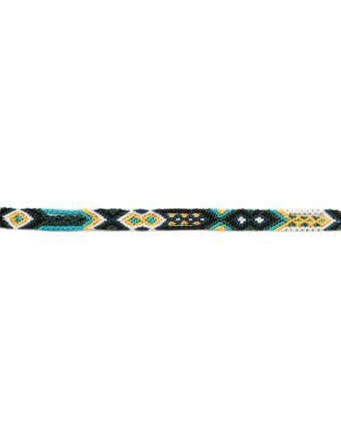 Bracelet Brésilien Fin Noir Jaune Bleu