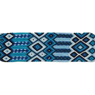 Manchette-Bracelet-Brésilien-Large-Bleu