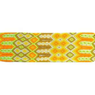 Manchette-Bracelet-Brésilien-Large-Jaune