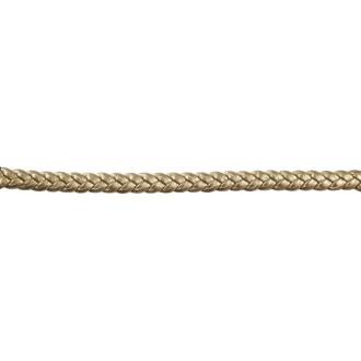 Lanière tressée doré antique métallisé laminé