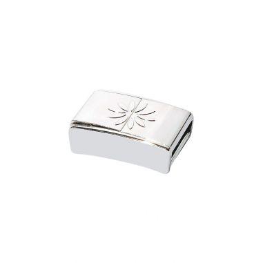 Rhodium Magnetic Clasp 11 mm