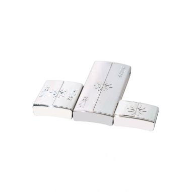 Pack Fermoirs Rhodium * 3 Tailles