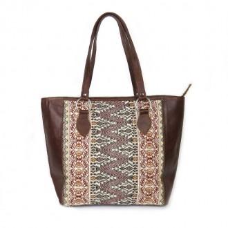Ethnic Brown Handbag TIKAL