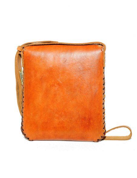 Camel CARMELITA Small Boho Tooled Leather Slingbag