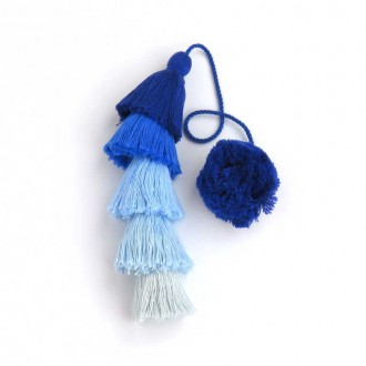Blue Long Tassel