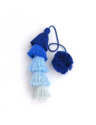Blue Long Tassel
