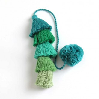 Green Long Tassel