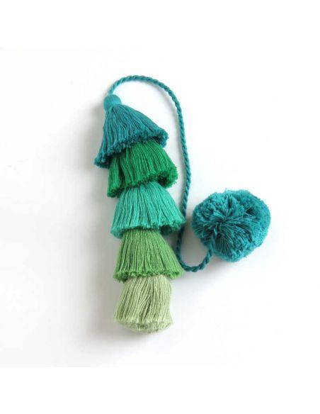 Green Long Tassel