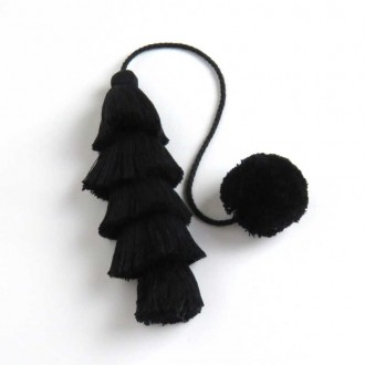 Black Long Tassel
