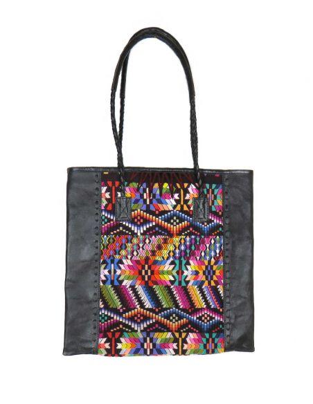 Ethnic Tote Bag Black QUETZAL