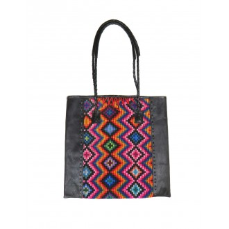 Ethnic Tote Bag Black QUETZAL