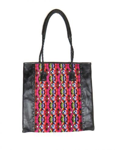 sac-cabas-ethnique-QUETZAL-noir