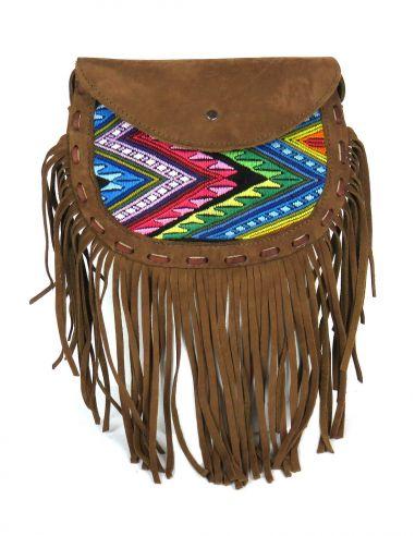 Ethnic Little SlingBag Multicolored Fringes CHICHI