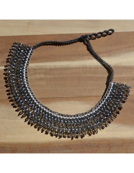 PACAYA Black Ethnic seed beads Necklace