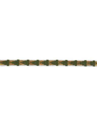 Perles Miyuki vert et dorées