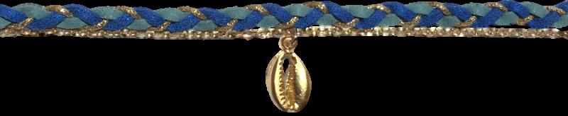 suedine-tressee-bleue-chaine-forcat-et-cauri-argentes