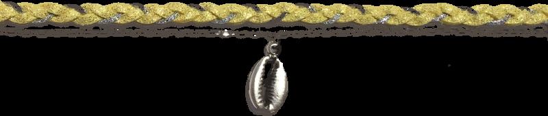 suedine-tressee-jaune-chaine-forcat-et-cauri-argentes