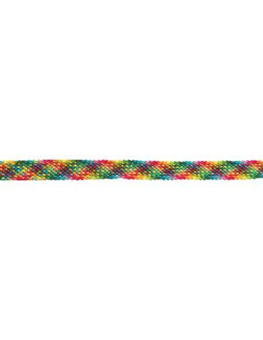 lien macramé multicolore damier