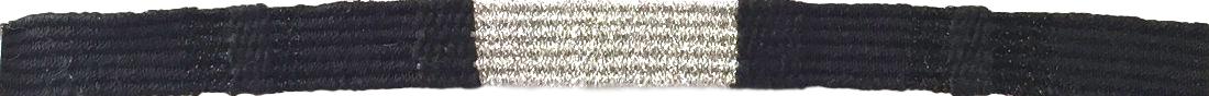 lien-tissage-soie-argent-noir