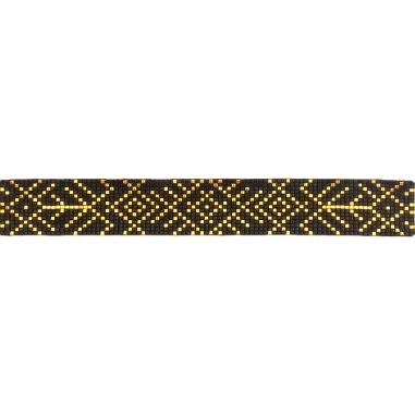 Lien Tissage Perles Black and Gold