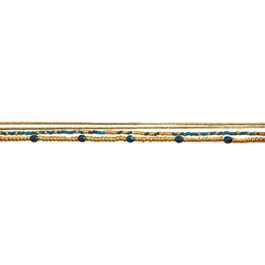 Multi-lien Doré Bleu