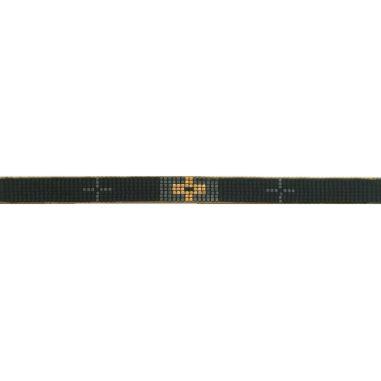 Lien Tissage Perles Croix Gold