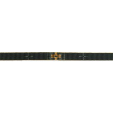 Seed beads Black and Gold
